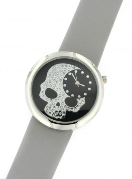 """Platino-Uhr """"Totenkopf"""""""